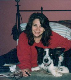 Cindy with her collie, Bob